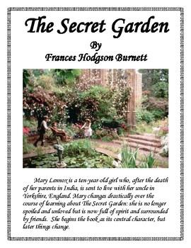 the secret garden book report and lapbook - Secret Garden Book