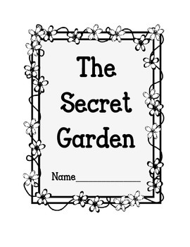 The Secret Garden Lapbook.  Interactive Notebok.  Writing Activities and Prompts