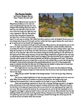 The Secret Garden - Literary Text Test Prep