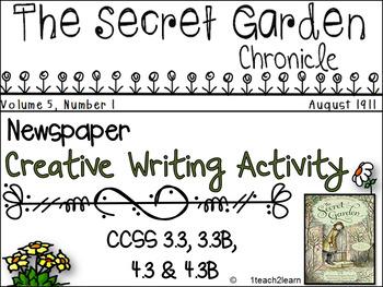 The Secret Garden - Novel Study - Creative Writing