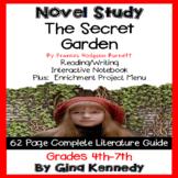 The Secret Garden Novel Study + Enrichment Project Menu