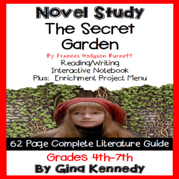 The Secret Garden Novel Study + Enrichment Project Menu