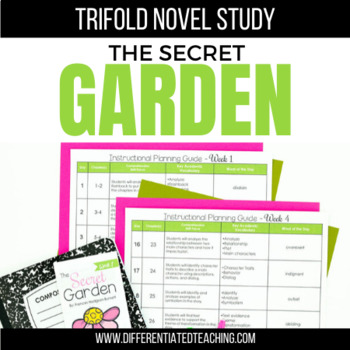 The Secret Garden Foldable Novel Study Unit