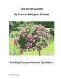 The Secret Garden Reading Comprehension Questions and Book Test