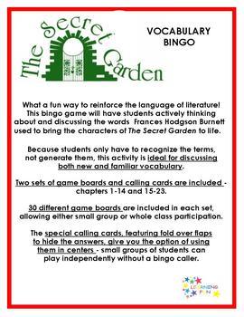 The Secret Garden Vocabulary Bingo