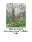 The Secret Garden by Frances Hodgson Burnett Comprehension and Vocabulary Packet