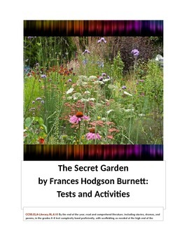The Secret Garden by Frances Hodgson Burnett Tests and Activities