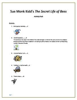 The Secret Life of Bees Activity Pack