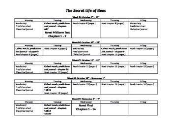 The Secret Life of Bees Activity Packet