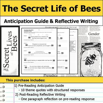 The Secret Life of Bees - Anticipation Guide & Reflection