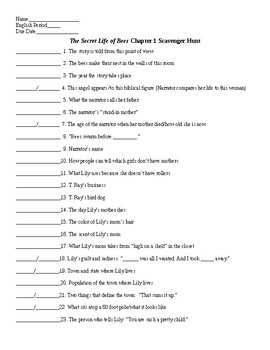 The Secret Life Of Bees Worksheets & Teaching Resources | TpT