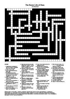The Secret Life of Bees - Crossword Puzzle
