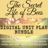 The Secret Life of Bees Digital Unit Plan Bundle with ADDITIONAL CHAPTER QUIZZES