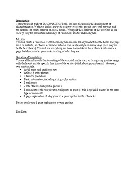 The Secret Life of Bees Facebook Project Guidelines