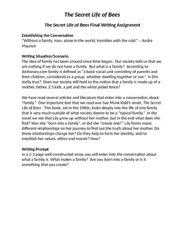The Secret Life of Bees Final Writing Assignment