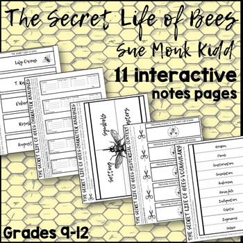 The Secret Life of Bees Interactive Notes Pages