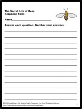 The Secret Life of Bees Novel Study