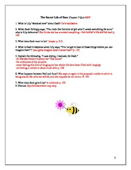 secret life of bees answers