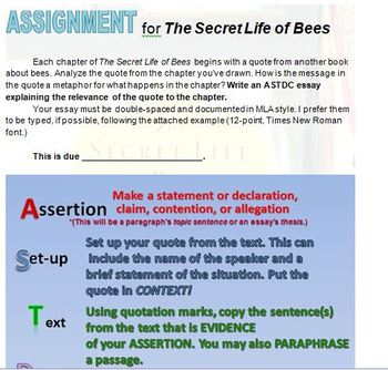 The Secret Life Of Bees Response And Evidence Activities By  The Secret Life Of Bees Response And Evidence Activities Critical Analysis Essay Example Paper also Science Fair Essay  Dme Company Business Plan