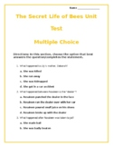 The Secret Life of Bees Unit Test With Answer Key