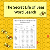 The Secret Life of Bees Word Search - No Prep - black and white