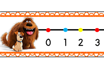 The Secret Life of Pets Wall Number Line 0-120