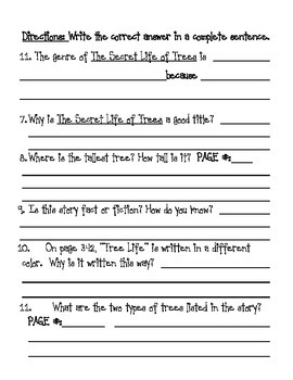 The Secret Life of Trees: CCSS-Aligned Assessment