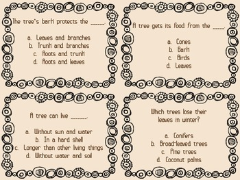 The Secret Life of Trees Quiz Quiz Trade Cards Harcourt Trophies 2nd