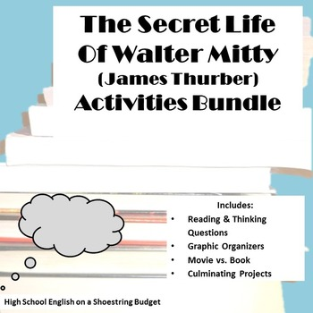 The Secret Life of Walter Mitty Activity Bundle (James Thu