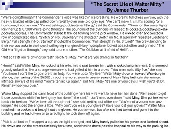 """The Secret Life of Walter Mitty"" Analysis Presentation"