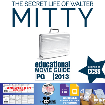 The Secret Life of Walter Mitty Movie Guide | Questions | Worksheet (PG - 2013)