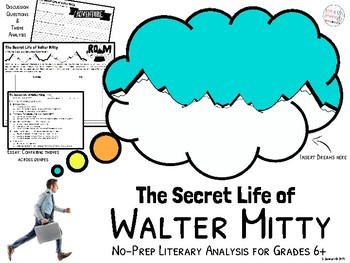 The Secret Life of Walter Mitty No-Prep Literary Analysis