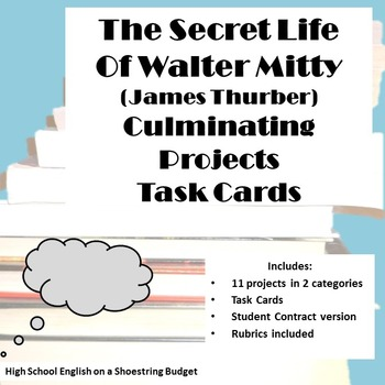 The Secret Life of Walter Mitty Projects [Task Cards] (Jam
