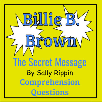 Billie B. Brown: The Secret Message by Sally Rippin Book Study
