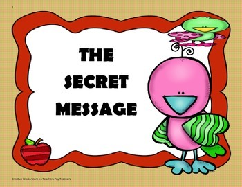 The Secret Message - 4th Grade - Tri Folds + Activities