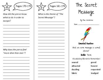 The Secret Message Trifold - Wonders 4th Grade Unit 2 Week 1