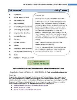 The Secret River-Kate Grenville Teacher Text Guide and Worksheets