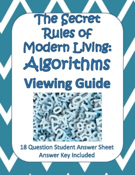 The Secret Rules of Modern Living: Algorithms Viewing Guide