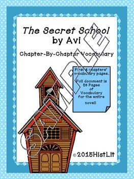 The Secret School by Avi Chapter Vocabulary Sample