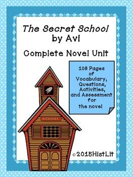 The Secret School by Avi Complete Unit