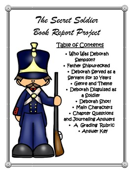 The Secret Soldier Book Report and Lapbook