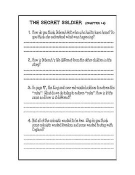 The Secret Soldier Reading Response