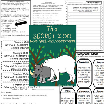 The Secret Zoo Novel Study and Assessments