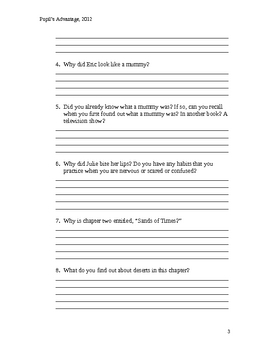 The  Secrets of Droon Journey to the Volcano Palace Worksheet