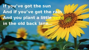 The Seed Song PPT