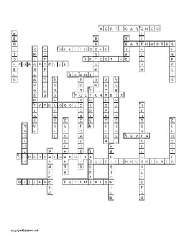 The Segmented Worms Vocabulary Crossword for Zoology