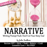 Narrative Writing Prompt Pack, Personal Narrative: Don't Let Your Story End