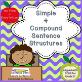 The Sentence Parts, Simple & Compound Sentence Structures