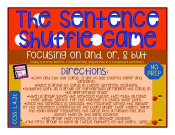 The Sentence Shuffle: Commas w/ Coordinating Conjunctions