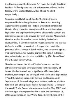 The September 11 attacks Handout